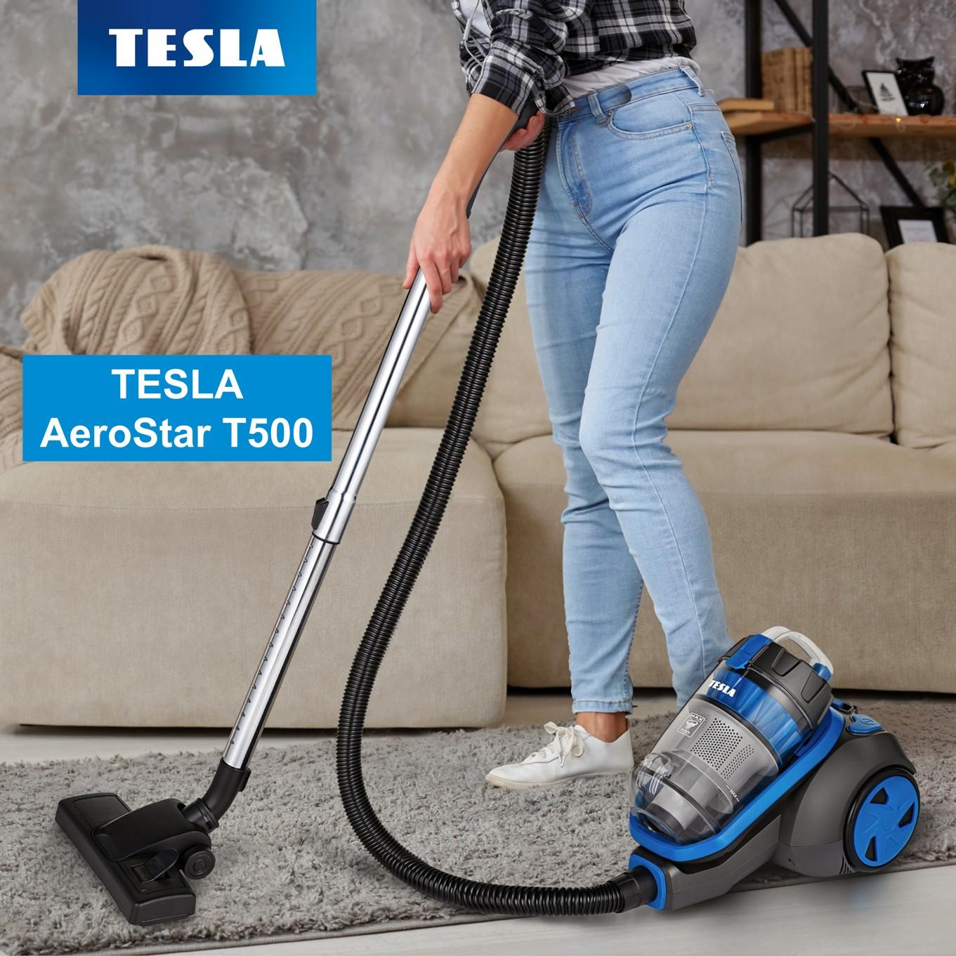 Novinka: bezsáčkový podlahový vysavač TESLA AeroStar T500