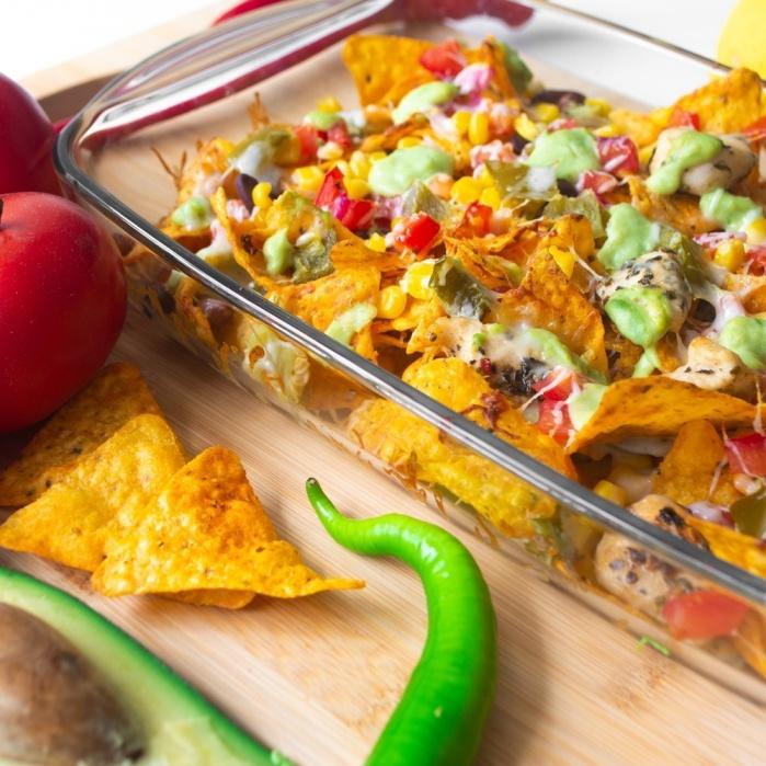 Zapékané nachos   pomalý hrnec TESLA