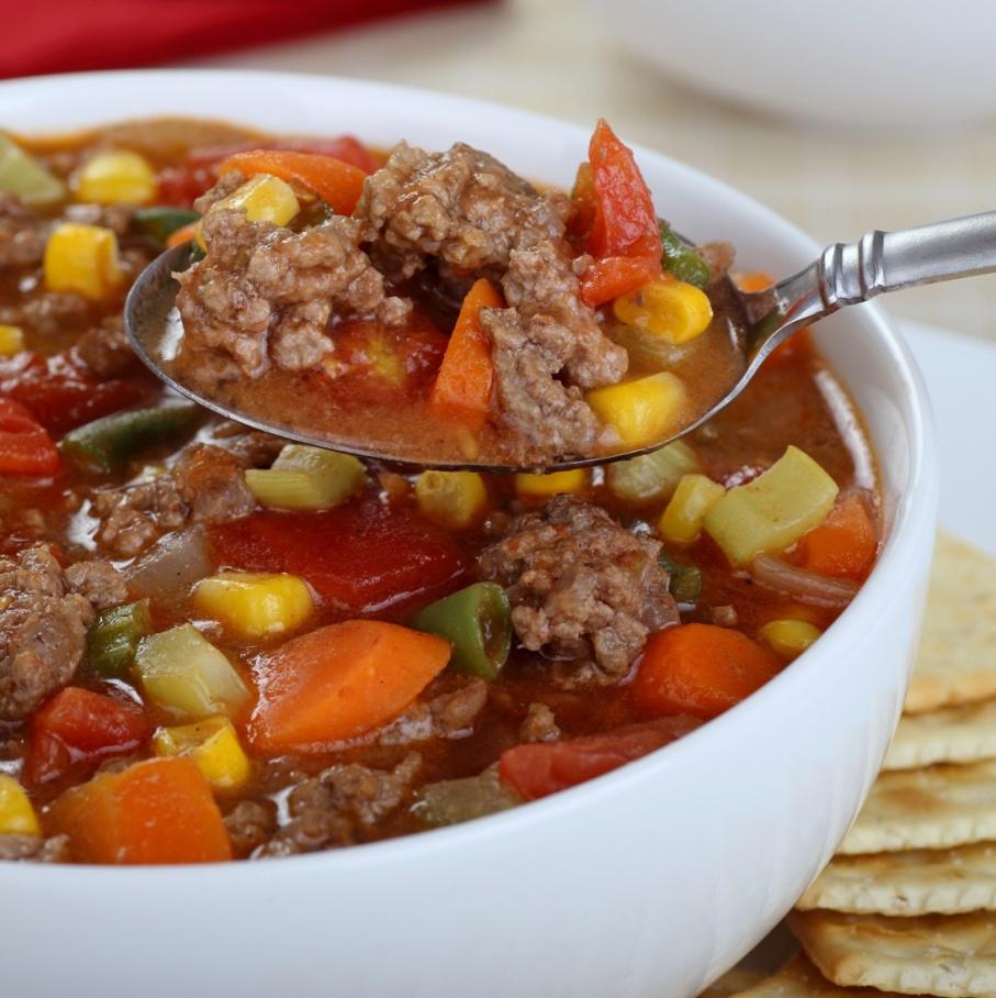 Hamburgerová polévka | multifunkční tlakový hrnec TESLA
