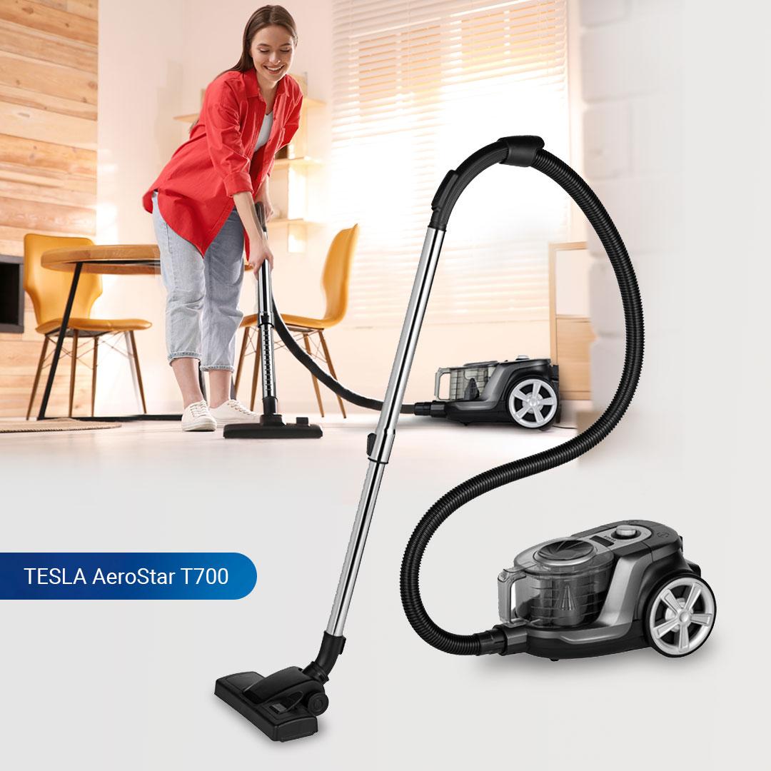 Novinka: bezsáčkový podlahový vysavač TESLA AeroStar T700