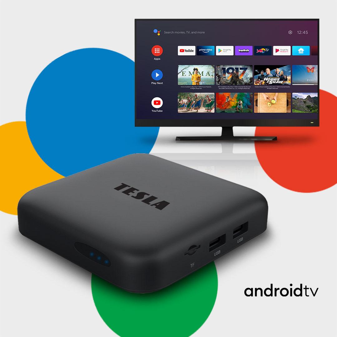 Novinka: První Googlem certifikované Android TV multimediální centrum TESLA