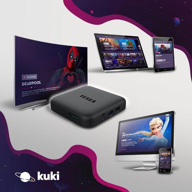 Akce: televize Kuki na 3 měsíce ZDARMA k Android TV multimediálnímu centrum TESLA MediaBox XA400