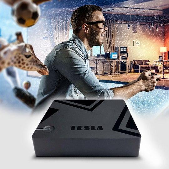 Novinka: hybridní multimediální přehrávač s DVB-T2 TESLA MediaBox XT550
