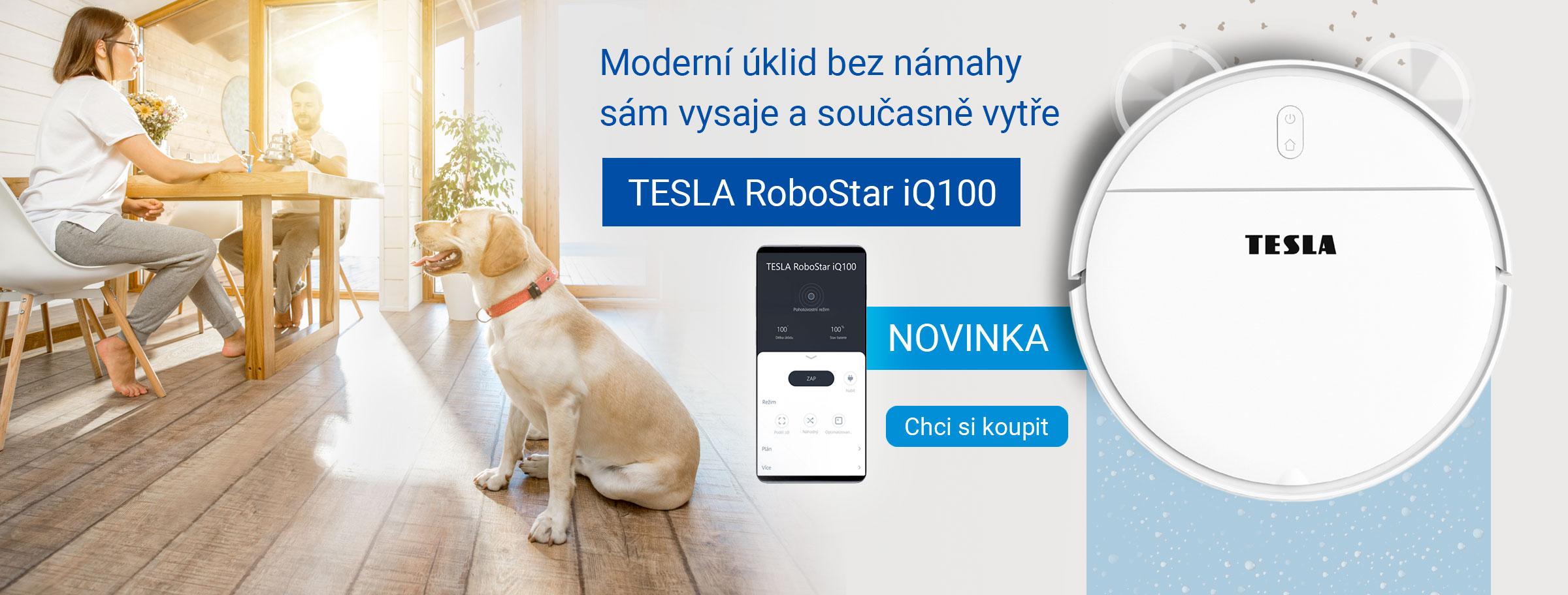 Novinka: TESLA RoboStar iQ100 - robotický vysavač
