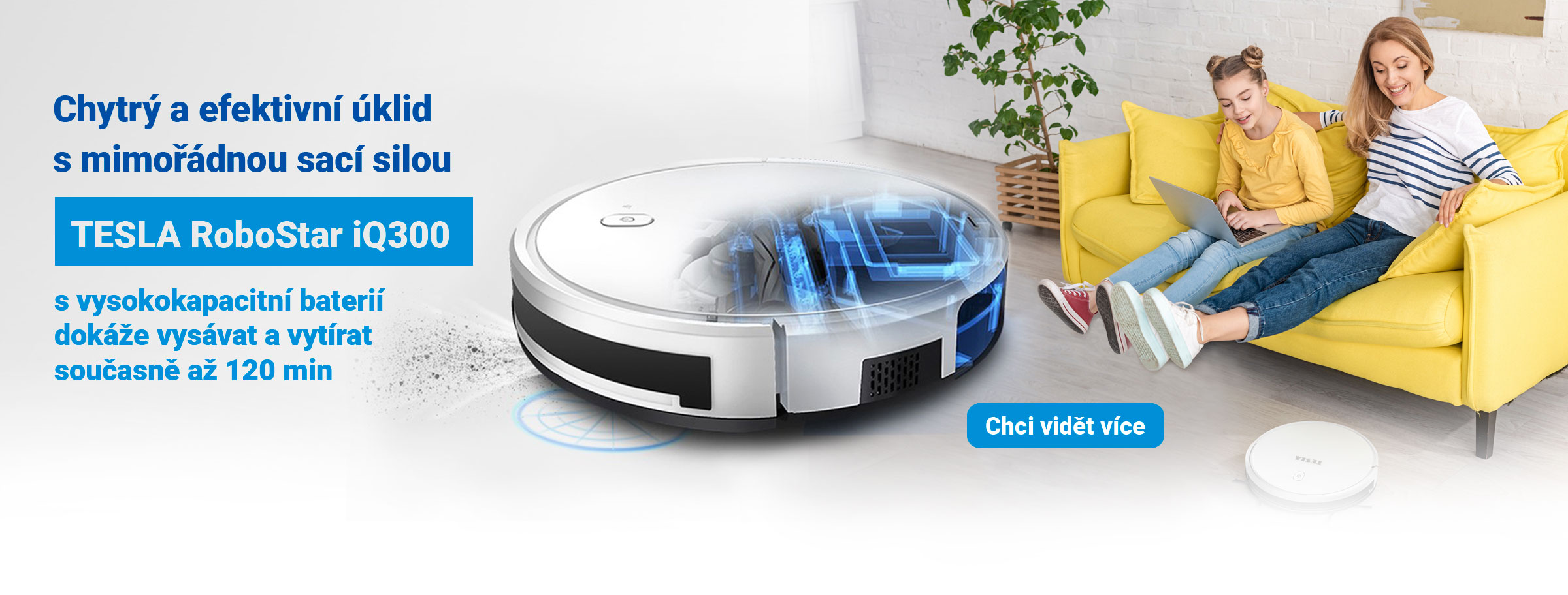 TESLA RoboStar iQ300 - inteligentní robotický vysavač