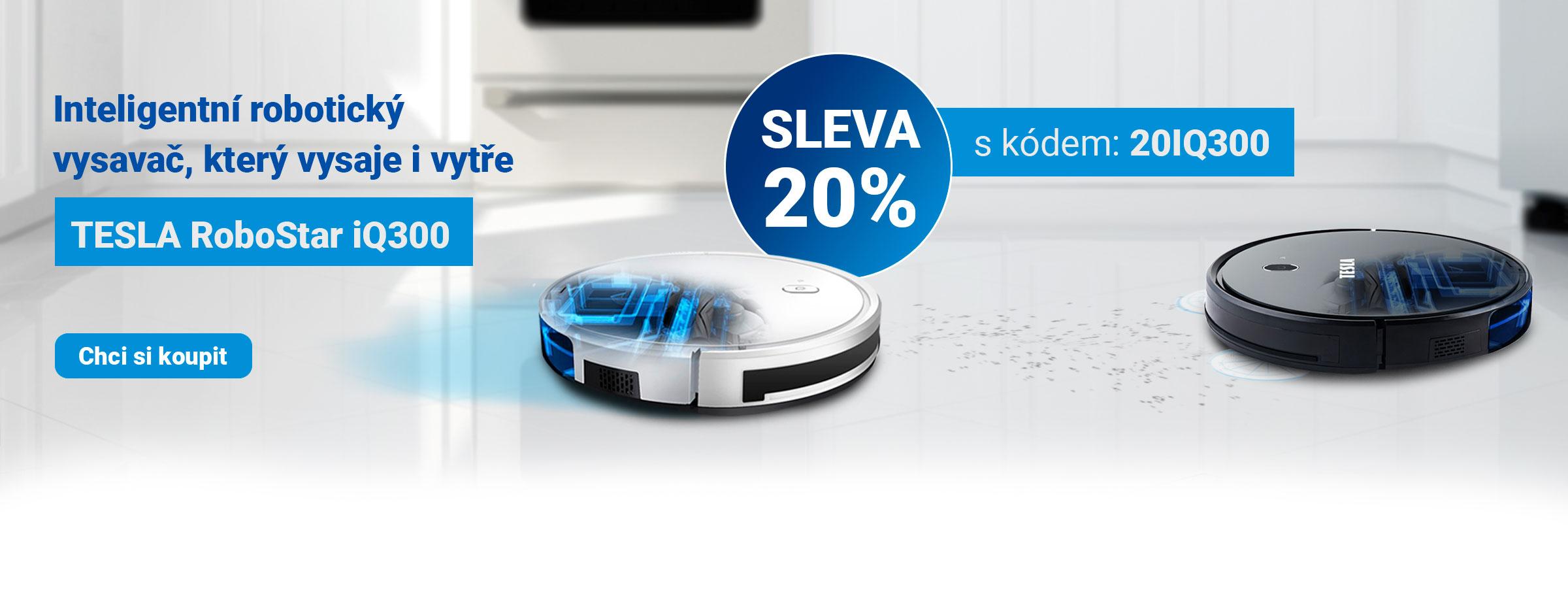 Akce: 20% sleva na inteligentní robotický vysavač TESLA RoboStar iQ300