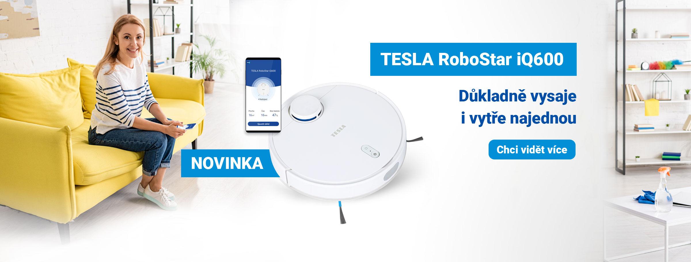 Novinka: TESLA RoboStar iQ600 - inteligentní robotický vysavač