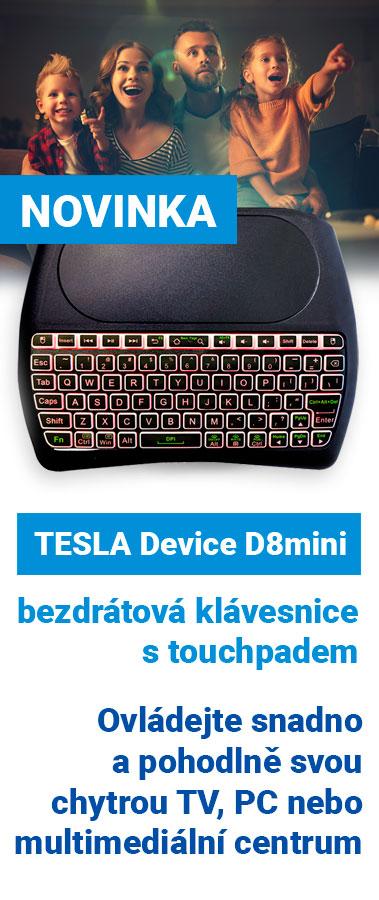 Novinka: TESLA Device D8mini - bezdrátová klávesnice s touchpadem