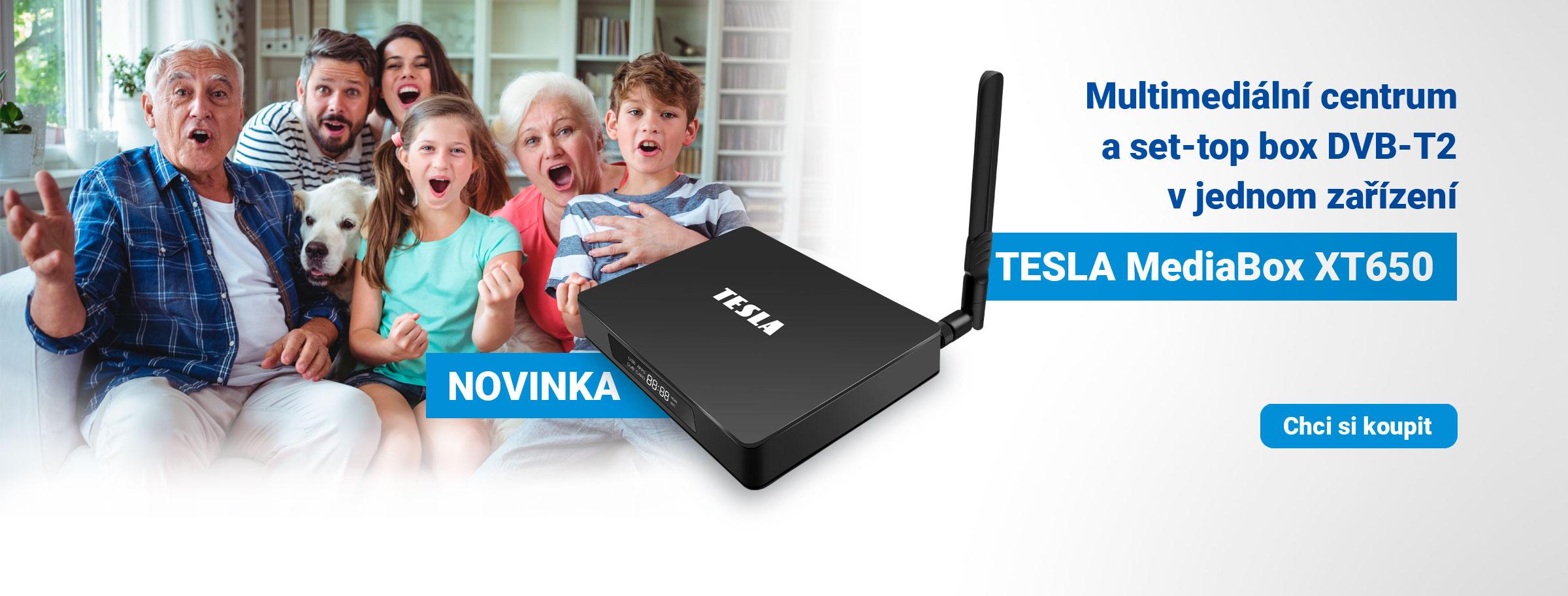 Novinka: TESLA MediaBox XT650 - hybridní multimediální přehrávač s DVB‒T2