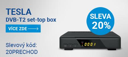 SLEVA 20% na vybrané DVB-T2 set-top boxy