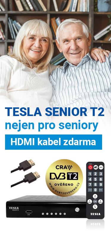 TESLA SENIOR T2 + HDMI kabel ZDARMA