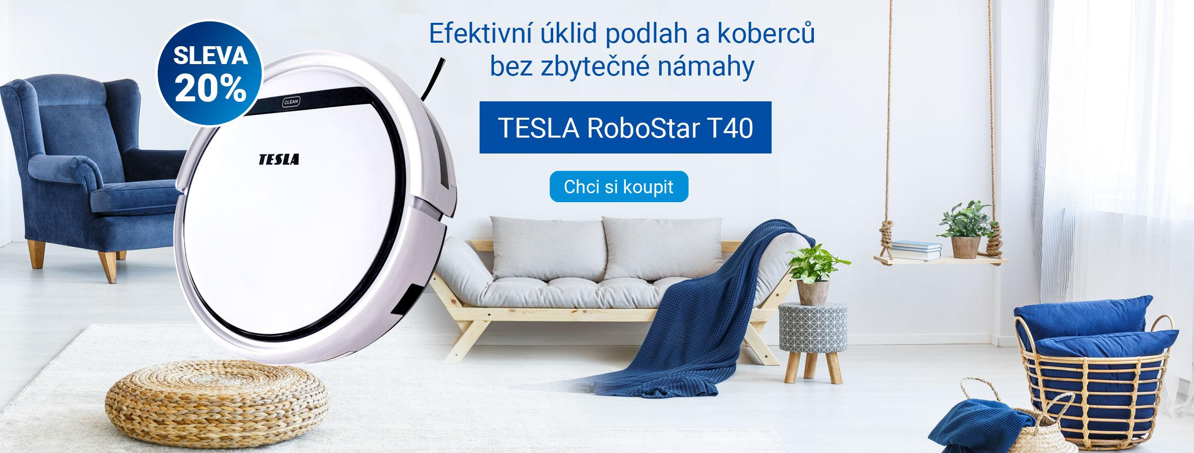 SLEVA 20% - TESLA RoboStar T40 - robotický vysavač