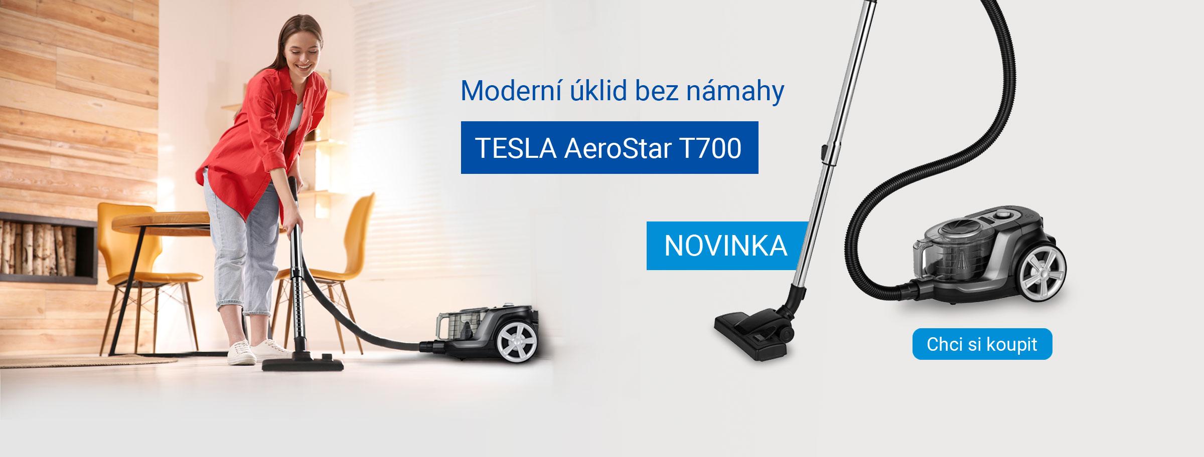 Novinka: TESLA AeroStar T700 - bezsáčkový podlahový vysavač