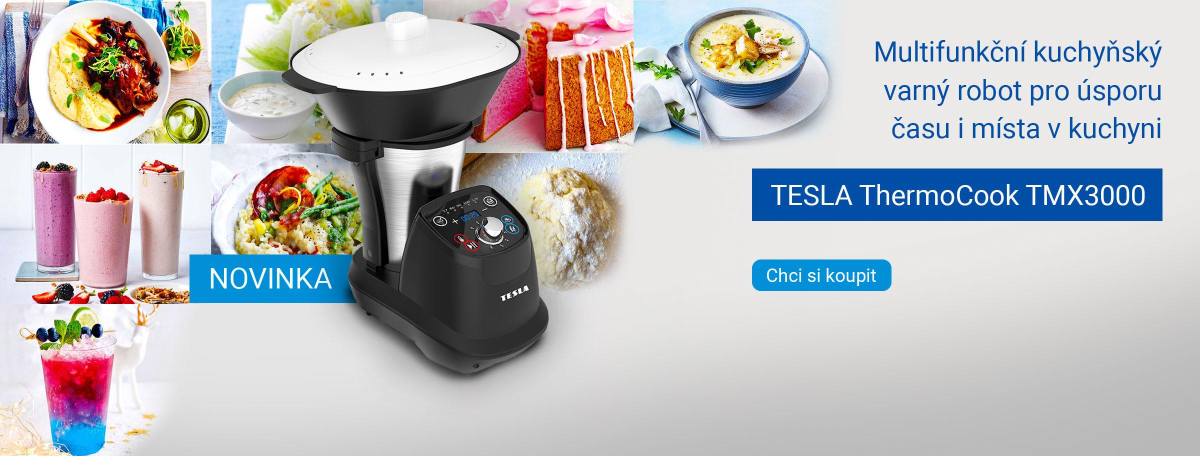 Novinka: TESLA ThermoCook TMX3000 - multifunkční kuchyňský varný robot