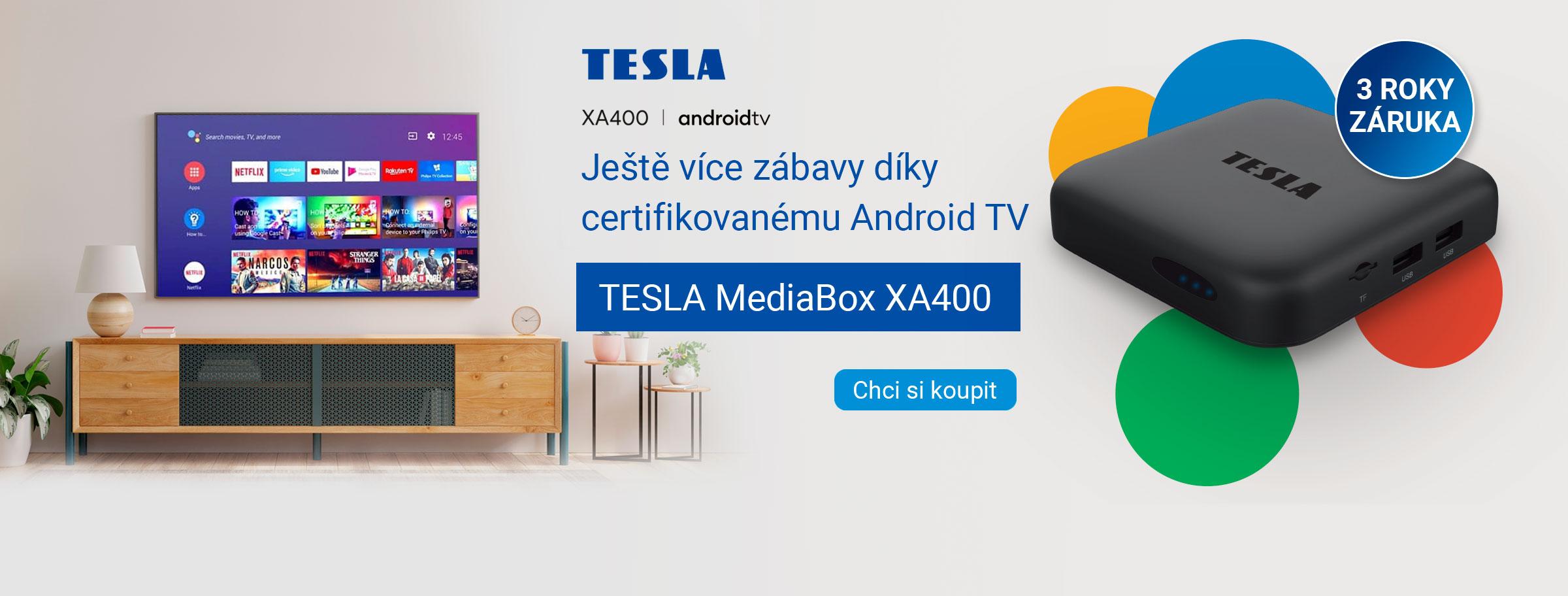 TESLA MediaBox XA400 Android TV - UHD multimediální přehrávač