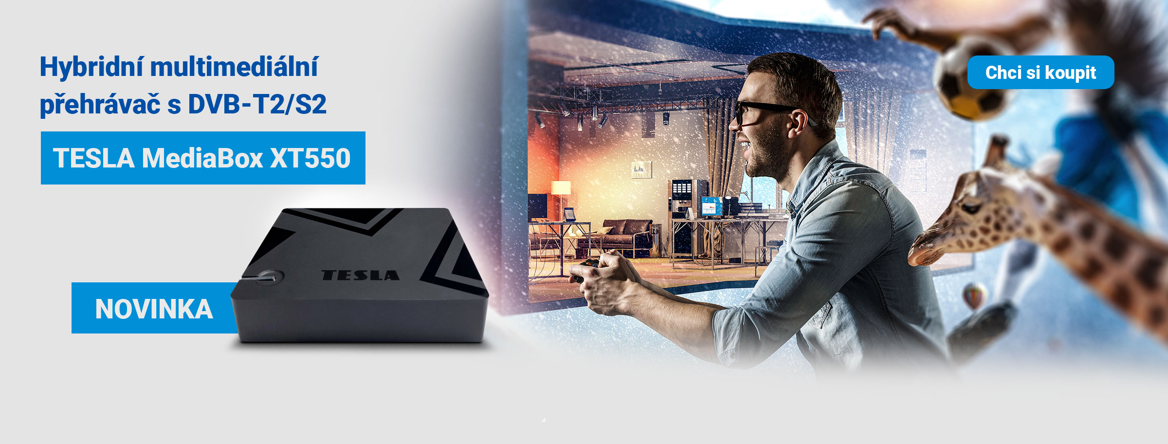 Novinka: TESLA MediaBox XT550 - hybridní multimediální přehrávač s DVB‒T2/S2