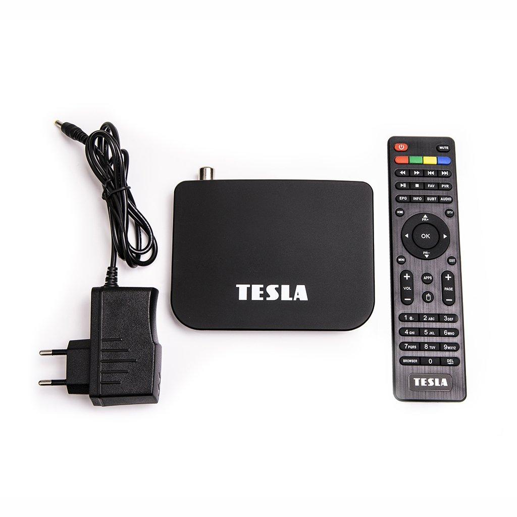 TESLA TEH‒500 - Hydridní DVB‒T2 H.265 (HEVC) přijímač/MediaBox, Android, KODI