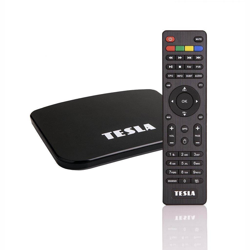 TESLA TEH‒500 PLUS - Hydridní DVB‒T2 H.265 (HEVC) přijímač/MediaBox, Android, KODI