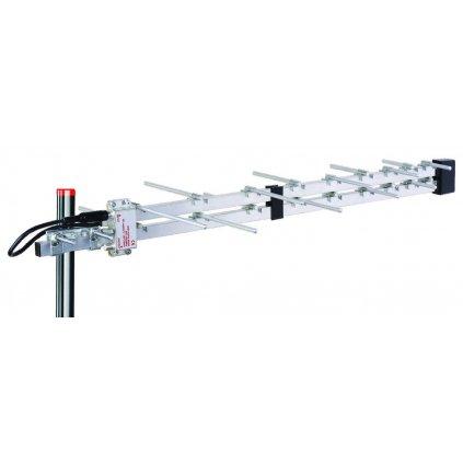 TESLA TE‒2800 PW - venkovní anténa pro DVB‒T2 signál, 470‒790 MHz, 9 dBi, aktivní zesilovač, montážní SET | 2. jakost | SPO