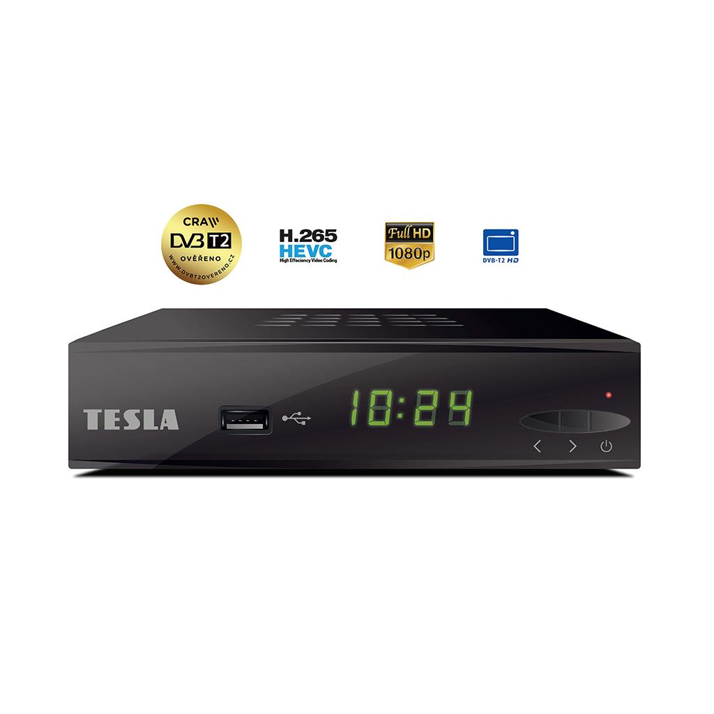 TESLA TE‒320 - DVB‒T2 H.265 (HEVC) přijímač, DVB‒T2 ověřeno