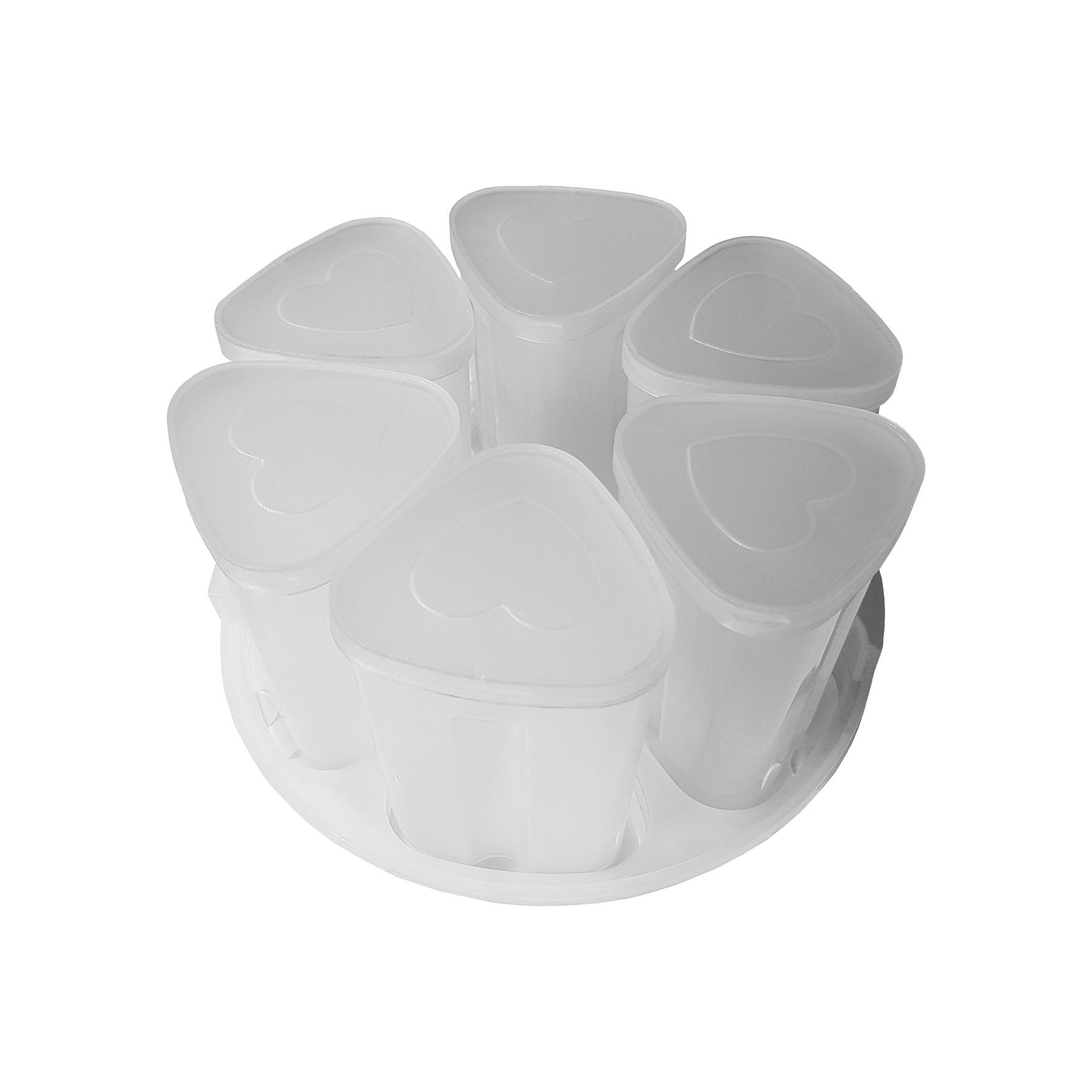 TESLA EliteCook - sada 6 šálků na výrobu jogurtu