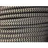 Textilní kabel 2 x 0,75mm CIKCAK černobílý