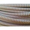 Textilní kabel 2 x 0,75mm béžovo bílý CIKCAK