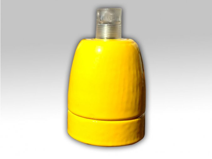 keramická objímka žlutá