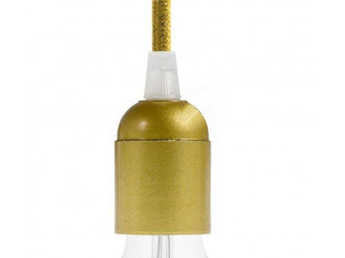 plastová objímka zlatá