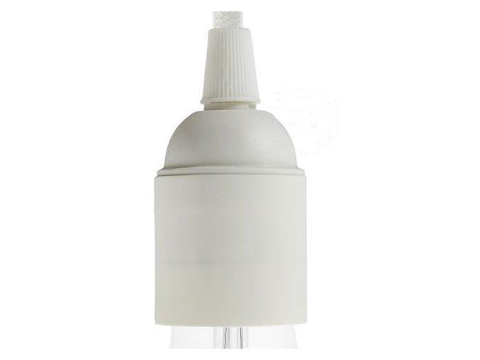 Plastová objímka bílá E 27