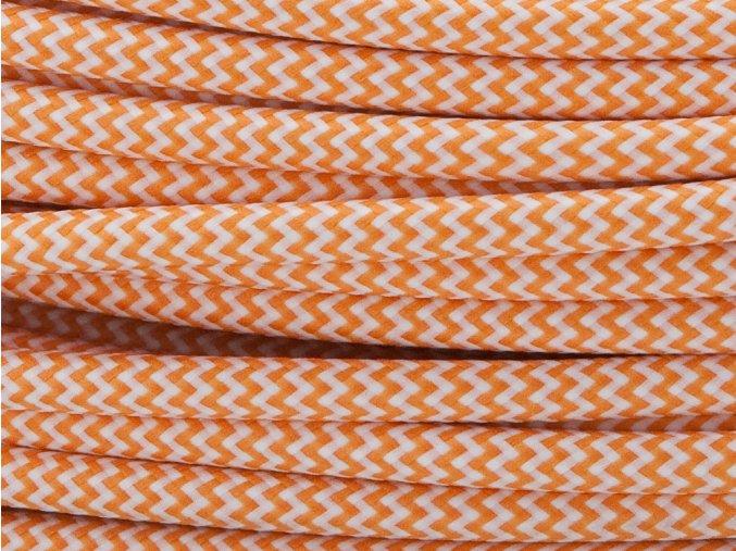 Kabel oranžovo-bílý 3 x 0,75mm cikcak
