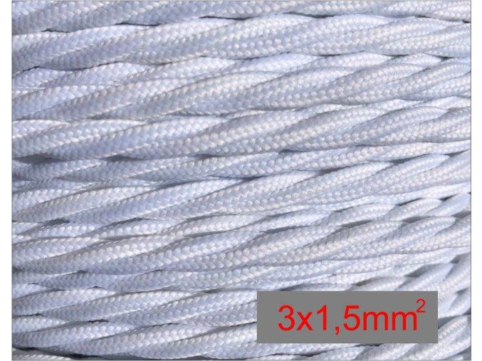 3x1,5mm splétaný bílý