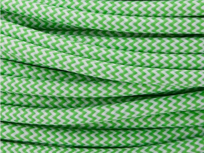 kabel 3 x 0,75mm cikcak zeleno-bílý