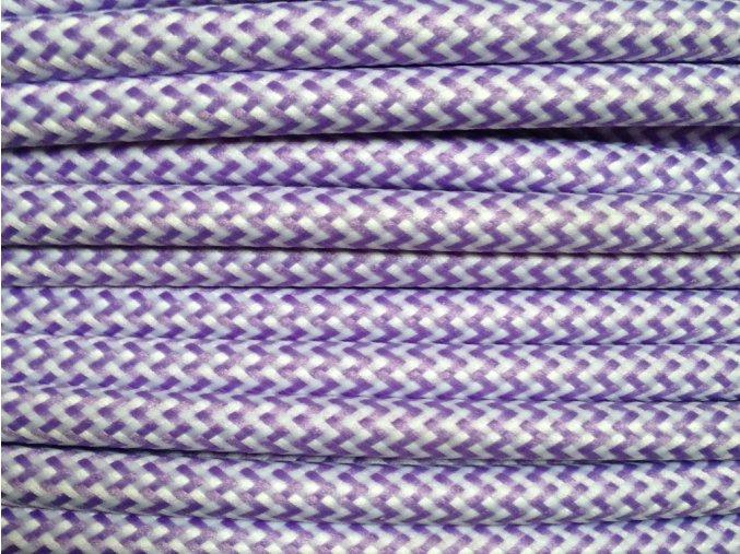 kabel 3 x 0,75mm fialovo bílý CIKCAK