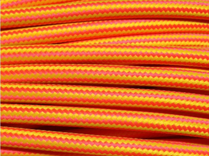 kabel 3 x 0,75mm podélný vzor svítivě červená + žlutá