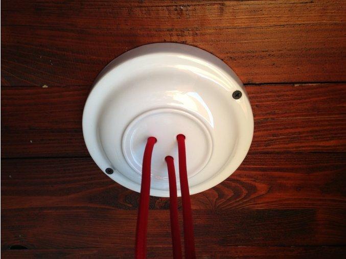 Keramický baldachýn na 3 kabely bílý