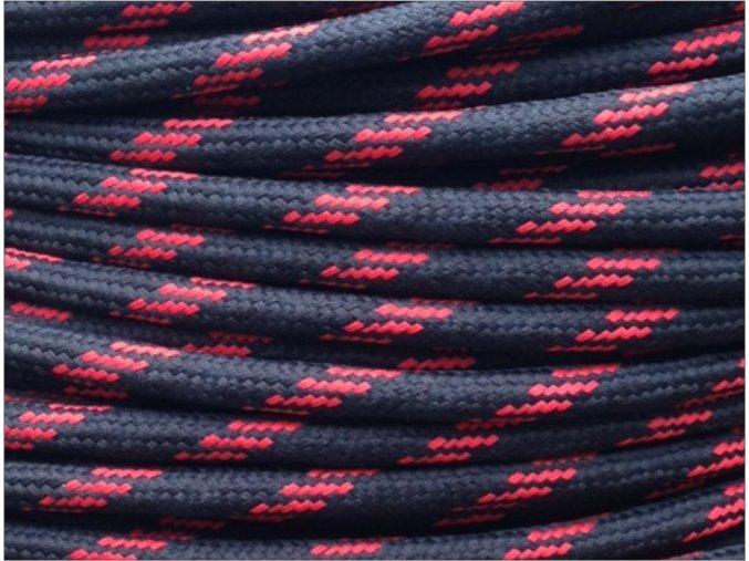 Textilní kabel 2 x 0,75mm Round 5 , černo červený