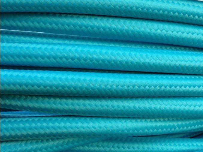 Textilní kabel 3 x 0,75mm mořská modrá