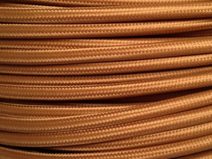 TEXTILNÍ KABEL 3 X 1,5mm  HNĚDÝ 5028