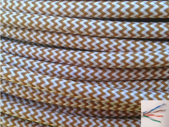 UTP internetový kabel , CIKCAK béžová - bílá