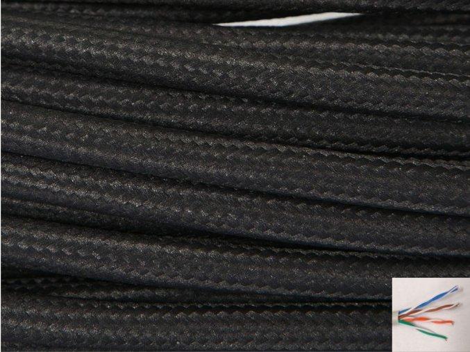 UTP internetový kabel ČERNÝ