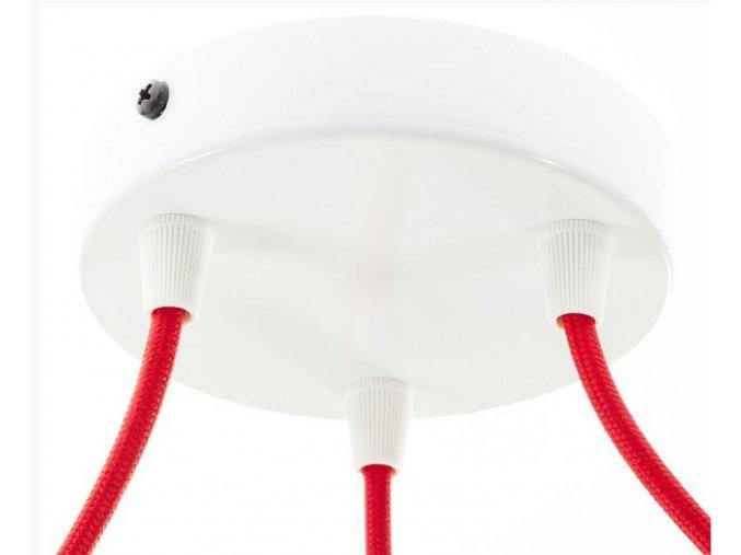 Baldachýn kulatý  bílý na 3 kabely