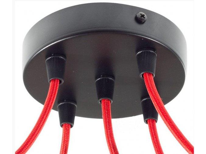 Baldachýn kulatý černý na 5 kabelů