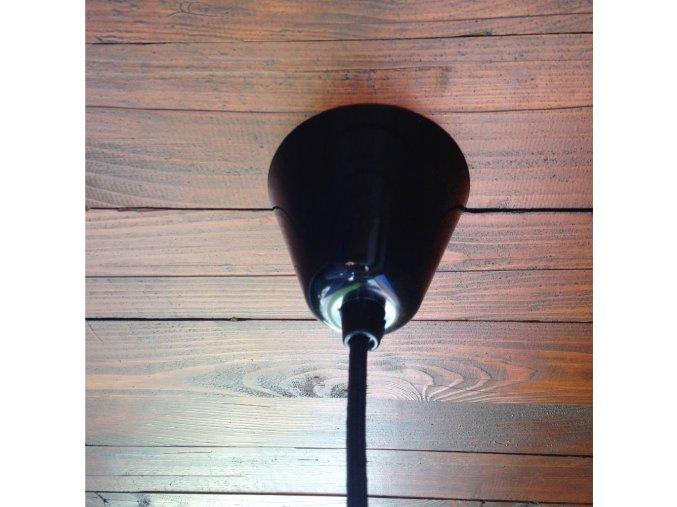 Plastový baldachýn kónický černý