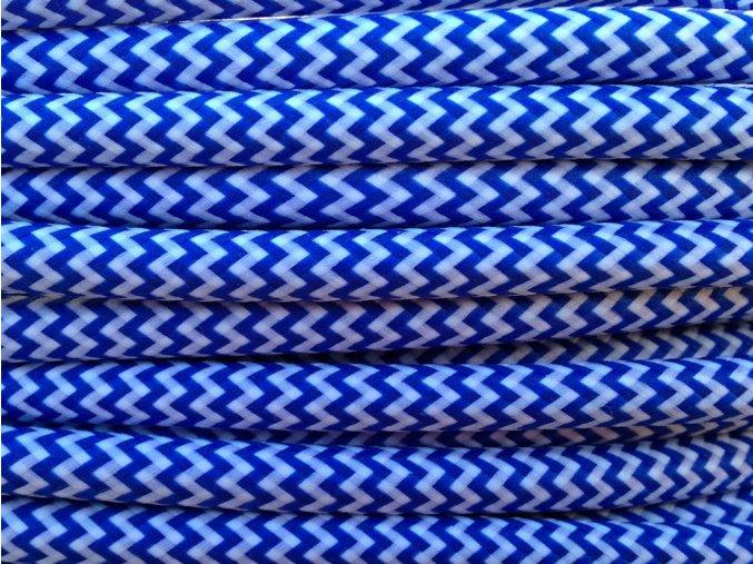 KABEL MODRO - BÍLÝ CIKCAK 3 X 0,75MM