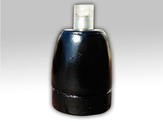 keramická objímka černá