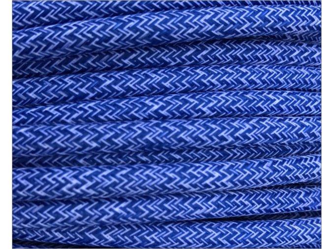 modrobílý melír