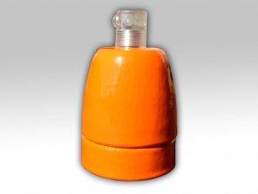keramická objímka oranžová