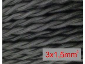 splátaný černý 3 x 1,5mm