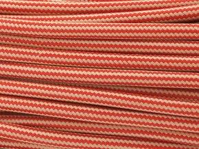 kabel 3 x 0,75mm červeno-béžový podélný vzor